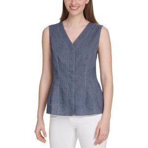 DKNY Linen blend vest   XL